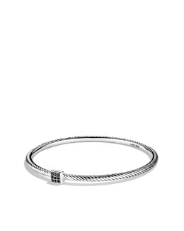 David Yurman Confetti Bangle with Black Diamonds