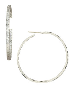 Fantasia by DeSerio Cubic Zirconia Hoop Earrings
