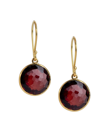 Mini Lollipop Earrings, Garnet