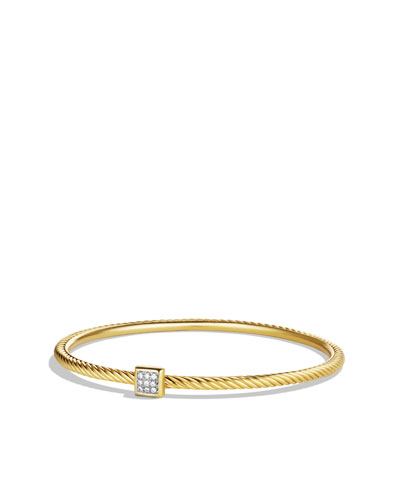 David Yurman Confetti Bangle with Diamonds in Gold