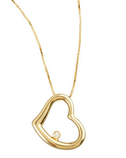 Roberto Coin Heart Diamond-Station Necklace