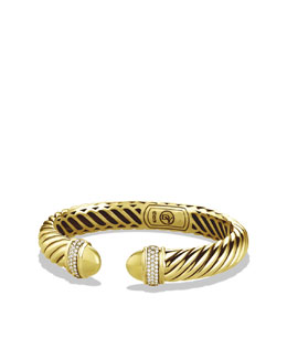 David Yurman Waverly Bracelet with Diamonds in Gold