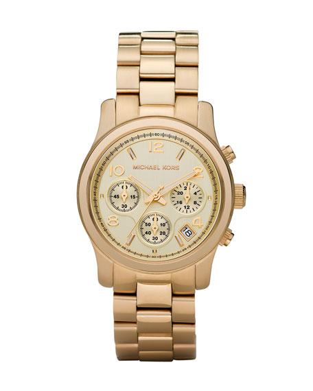 Michael Kors Yellow Golden Midsized Chronograph Watch