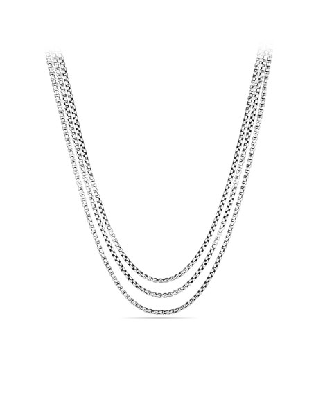 Three-Row Box Chain Necklace