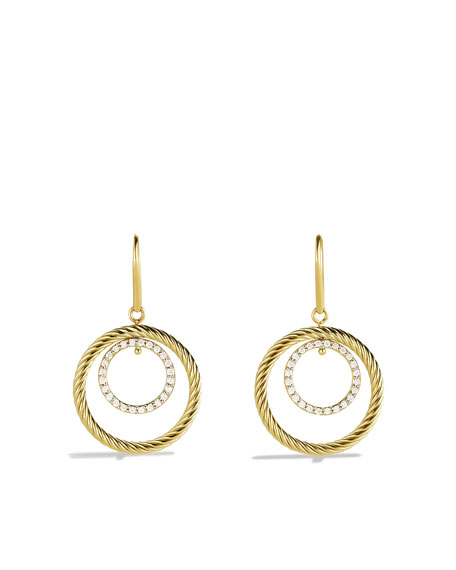 Mobile Small Earrings with Diamonds and Gold