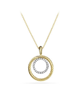 David Yurman Mobile Pendant with Diamonds in Gold on Chain