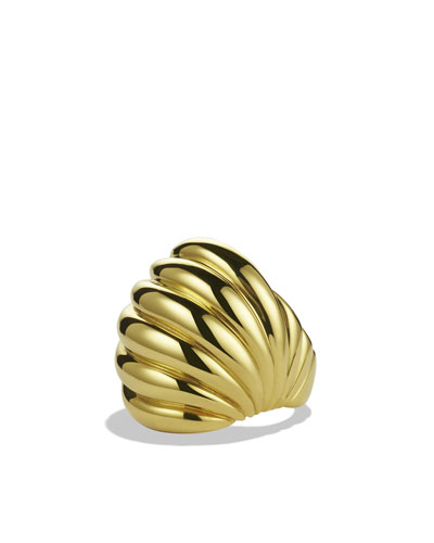 David Yurman Sculpted Cable Dome Ring in Gold