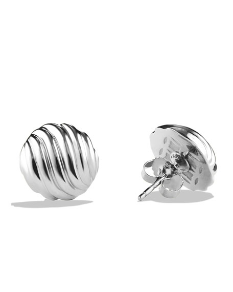 14mm Sculpted Cable Earrings