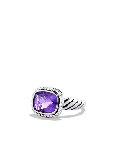 David Yurman Noblesse Ring with Amethyst and Diamonds