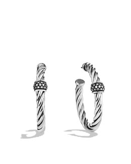 David Yurman Cable Classics Hoop Earrings with Diamonds