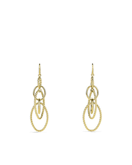 Mobile Large Link Earrings in Gold