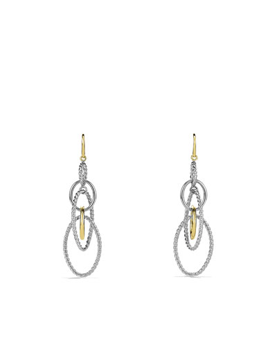 David Yurman Mobile Large Link Earrings and Gold