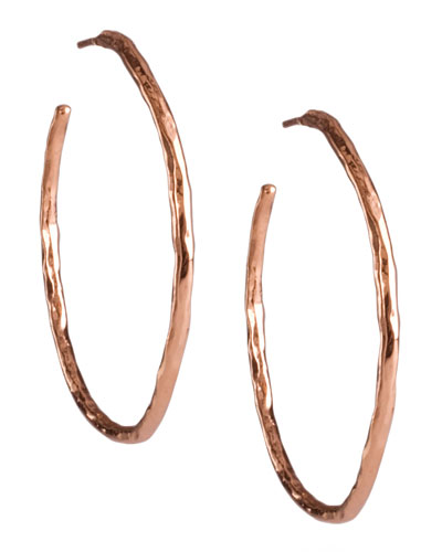 Ippolita Rose Hammered Hoop Earrings