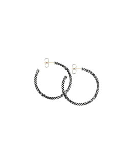 Lagos Thin Caviar Hoop Earrings