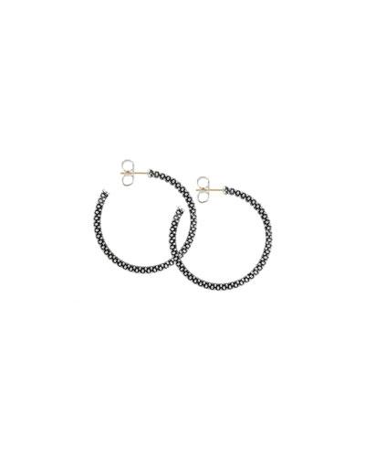 Lagos Thin Caviar Hoop Earrings