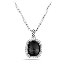 David Yurman Noblesse Pendant with Black Onyx and Diamonds on Chain