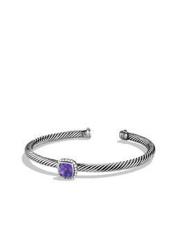 David Yurman Noblesse Bracelet with Amethyst and Diamonds