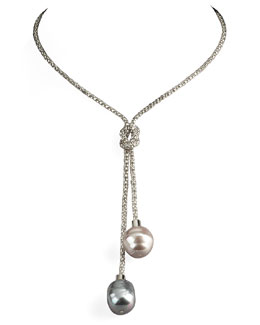 Majorica Pearl Lariat Necklace