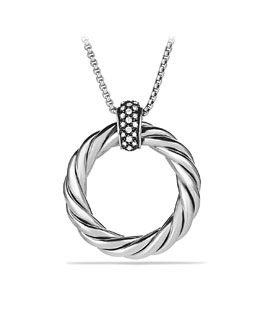 David Yurman Cable Classics Large Pendant with Diamonds on Chain