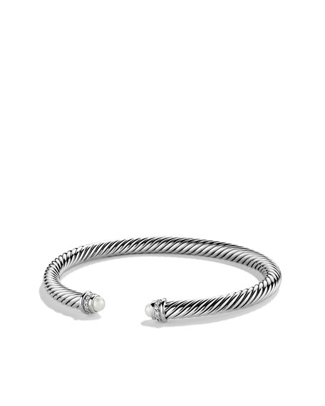 David Yurman Cable Classics Bracelet with Pearls and