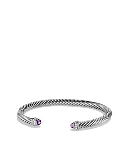 David Yurman 5mm Amethyst Cable Classics Bracelet