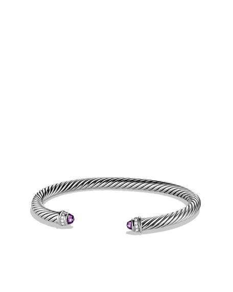 David Yurman 5mm Amethyst Cable Classics Bracelet