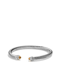 David Yurman Cable Classics Bracelet with Citrine and Diamonds