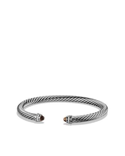 Cable Classics Bracelet with Smoky Quartz and Diamonds