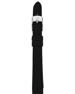 MICHELE 12mm Grosgrain Strap, Black