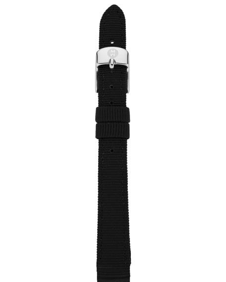 12MM GROSGRAIN BLACK STRAP