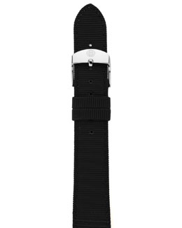 MICHELE 16mm Grosgrain Strap, Black