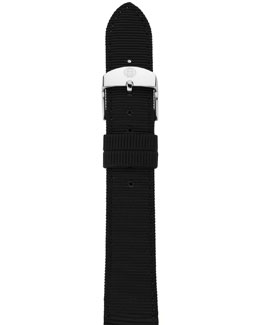MICHELE 18mm Grosgrain Strap, Black
