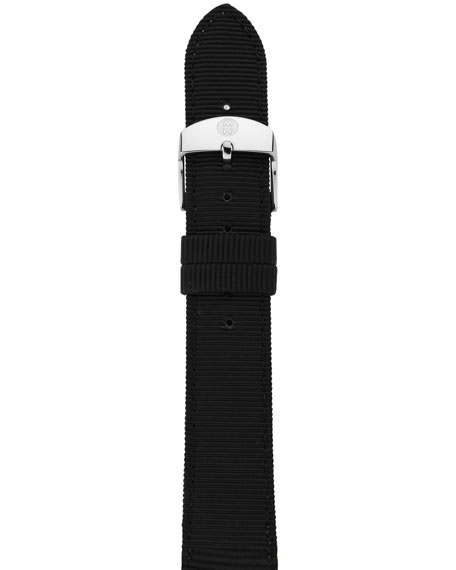 18MM BLACK GROSGRAIN STRAP