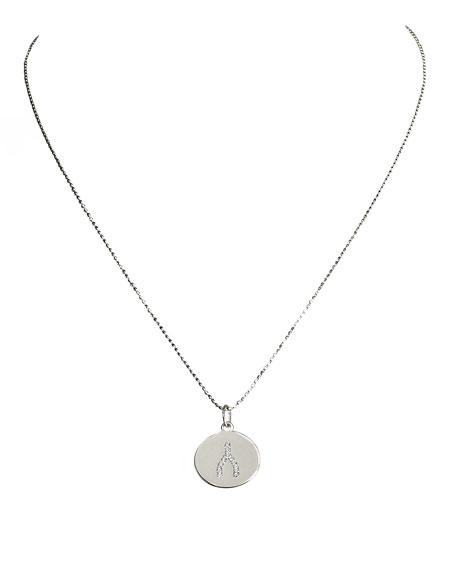 Diamond Wishbone Charm