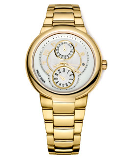 Philip Stein Gold Active Watch on Gold Bracelet