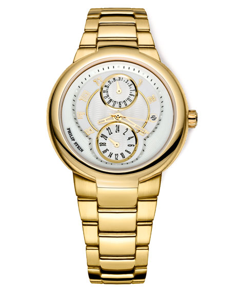 Gold Active Watch on Gold Bracelet