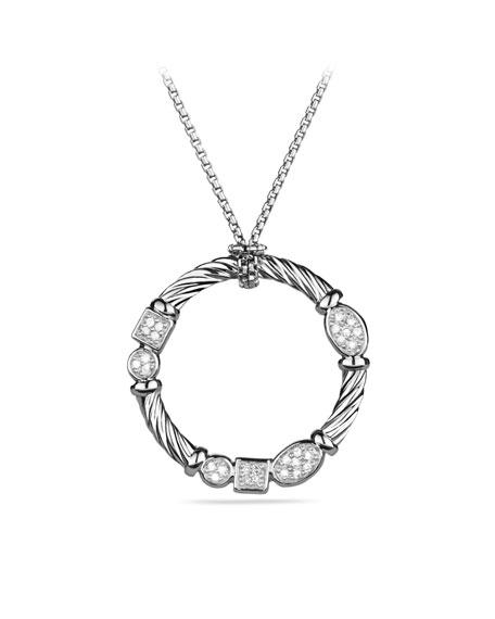 Confetti Pendant with Diamonds on Chain