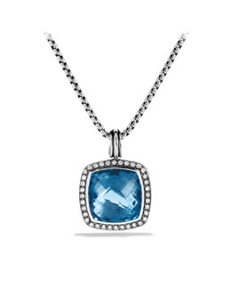 David Yurman Albion Pendant with Hampton Blue Topaz and Diamonds