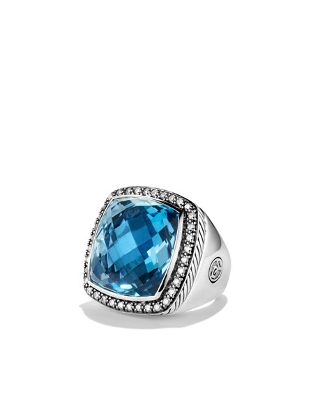 Albion Ring with Hampton Blue Topaz and Diamonds
