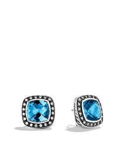 David Yurman Albion Earrings with Hampton Blue Topaz and Diamonds