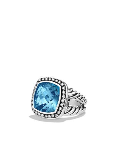David Yurman Albion Ring with Hampton Blue Topaz and Diamonds