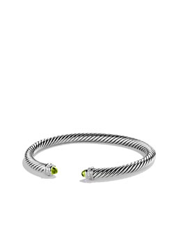 David Yurman Cable Classics Bracelet with Peridot and Diamonds
