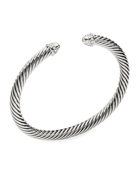 David Yurman Cable Classics Bracelet with Pearls and Diamonds ghUPqCK