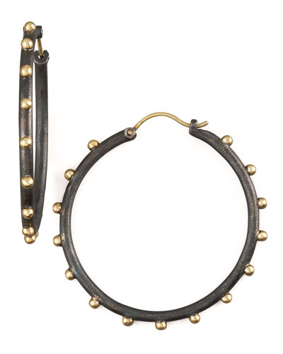 Armenta Midnight Granulated Hoops