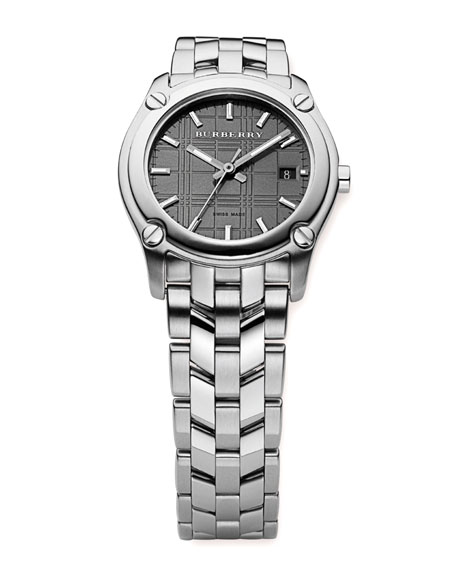 Herringbone Bracelet Watch, Black