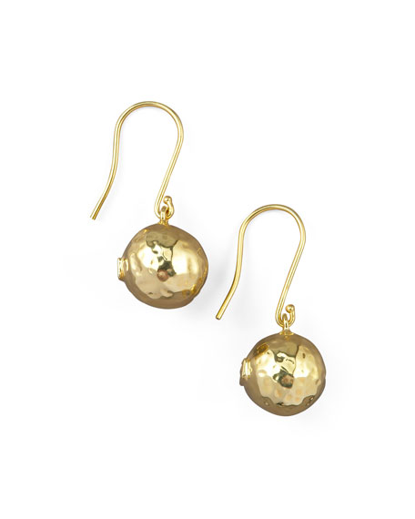 Hammered Ball Earrings