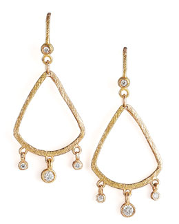 Dominique Cohen Teardrop Fringe Earrings