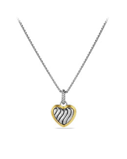 David Yurman Cable Collectibles Heart Charm with Gold