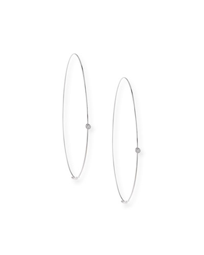 Lana Large Magic Diamond Hoops, White Gold