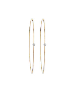 Lana Large Magic Diamond Hoops, Yellow Gold